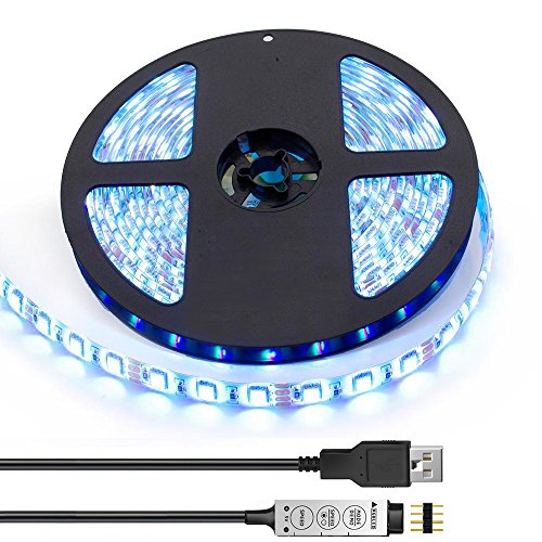 TV BackLight Kit,Computer Case LED Light,eTopxizu 6.6Ft Multi-colour 60leds Flexible 5050 RGB USB LED Strip Light with 5v USB Cable And Mini Controller For TV/PC/Laptop Background Lighting (Usb Blue Light Strip compare prices)
