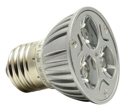 Great Eagle® Led Mr16/Par16 Standard E26 Base 120V Idealk Bulb. Replaces Warm Or Cool White Colors. 50W Replacement Ul Certified 3000K Dimmable Flood Light For Recessed, Track, And Pendant Lighting Fixtures - 5 Year Warranty Backed By Usa Seller.