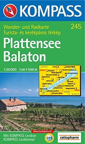 Plattensee / Balaton 1 : 50 000. Wandern/Rad