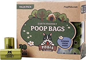 Pogi's Poop Bags - 30 Rolls 450 Bags - Large, Earth-Friendly, Scented, Leak Proof Waste Bag - Perfect for Small, Medium, and Large Dogs. Top Rated and 100% Lifetime Guarantee