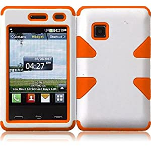 Amazon.com: LG 840G ( Tracfone ) Phone Case Accessory WhiteOrange Dual