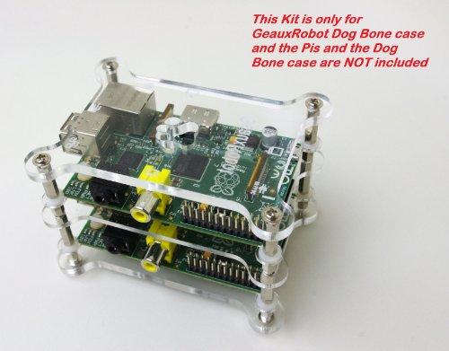 GeauxRobot Raspberry Pi B Case Box Enclosure Dog