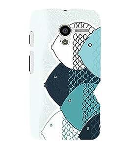 printtech Abstract Fish Design Back Case Cover for Motorola Moto X XT1058::Motorola Moto X (1st Gen)
