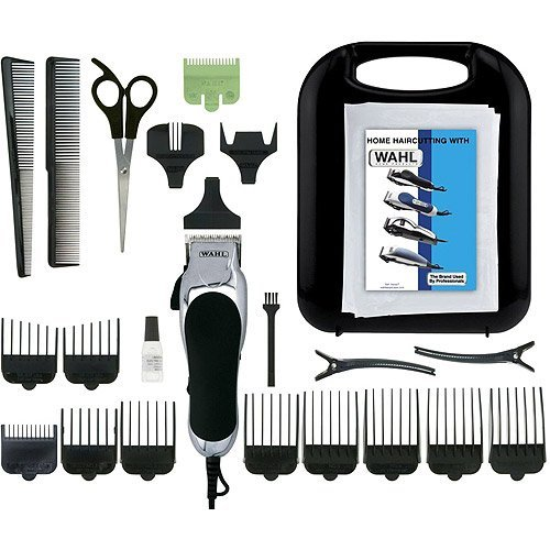 Wahl Corded Chrome Pro 24-Piece Haircut Kit (Haircut Kit Vacuum compare prices)
