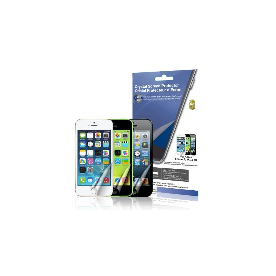 Green Onions supply EyeComfort Crystal Anti Fingerprint Screen Protector for Apple iPhone 5/5C/5S (Blue light cut,2 pack) Cell Phones & Accessories