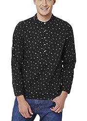 Chumbak Men's Casual Shirt (8904218042789_CMKS002 XL_X-Large_Black)
