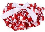Masione Cute Baby Girls Pettiskirt Ruffle Panties Briefs Bloomer Diaper Cover Size M6 24 Months Polka dot 3