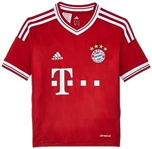 adidas Kinder Kurzärmliges Fußballtrikot Fc Bayern Home Jersey, Fcb True Red/White, 176, G74178