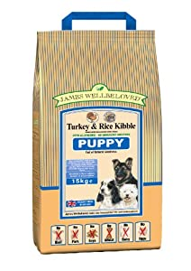 James Wellbeloved Puppy Turkey and Rice Kibble 15 kg