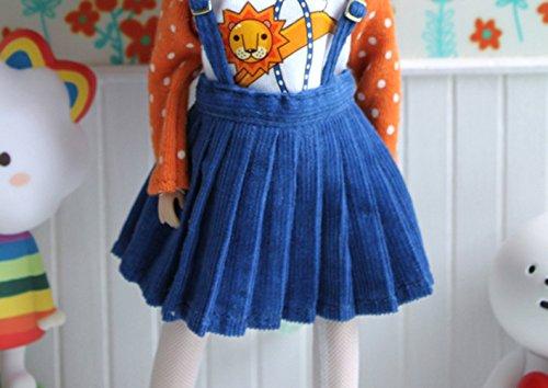 (ドーリア)Dollia ブライス 1/6ドール用 アウトフィット プリーツ スカート ブルー サロペットスカート ネオブライス ドール 人形 (スカート)