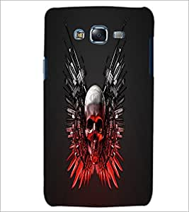 PrintDhaba Skull D-1240 Back Case Cover for SAMSUNG GALAXY J5 (Multi-Coloured)
