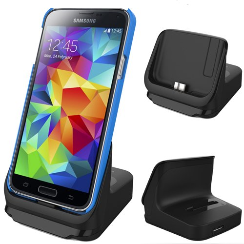Rnd Dock And 2Nd Battery Charger For Samsung Galaxy S5 With Usb 3.0 (Black)