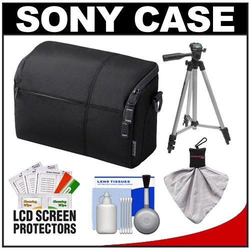 Sony LCS-EMF Medium Carrying Case (Black) with Tripod   Accessory Kit for NEX-3, NEX-C3, NEX-5, NEX-5N & NEX-7 Digital Cameras