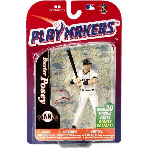McFarlane Playmakers: MLB Series 4 Buster Posey - S.F. Giants 4 inch Action Figure - 1