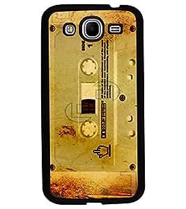 Fuson Premium Old Cassette Metal Printed with Hard Plastic Back Case Cover for Samsung Galaxy Mega 5.8 i9150 i9152