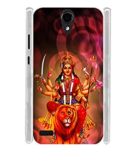 Lord Durga Devi Soft Silicon Rubberized Back Case Cover for Panasonic T45 4G :: Panasonic T45