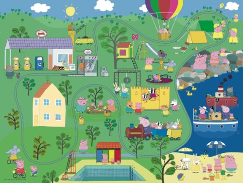 Peppa Pig Wiz Around 18 Piece Musical Floor Jigsaw Puzzle