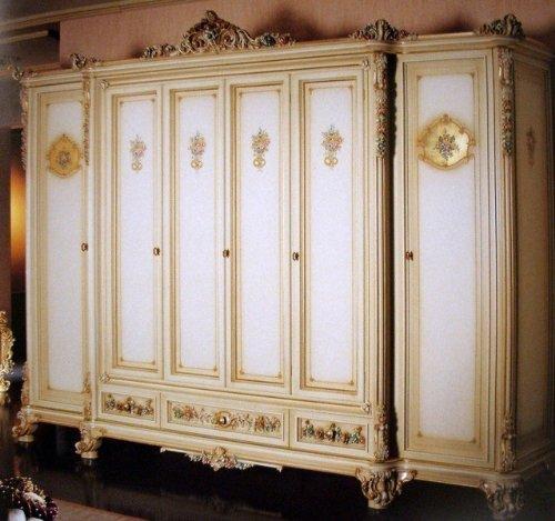 Barock Kleiderschrank 6türig Schlafzimmer Antik Stil Vp77006 kaufen