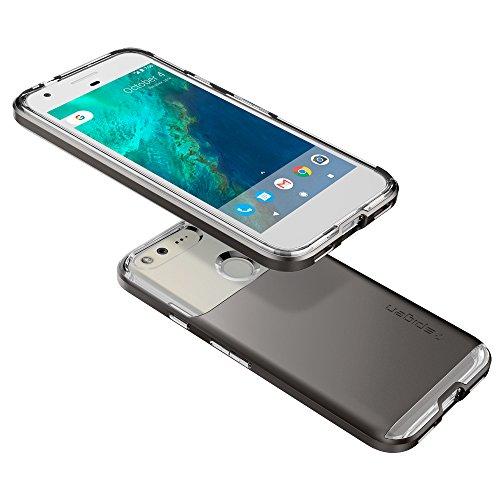 Spigen-Neo-Hybrid-Crystal-Google-Pixel-Case-with-Flexible-Inner-Casing-and-Reinforced-Hard-Bumper-Frame-for-Google-Pixel-2016-Gunmetal