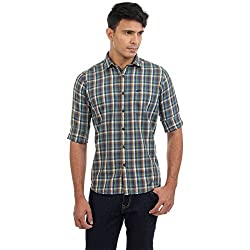 Sting Multi Color Checked Slim Fit Cotton Casual Shirt