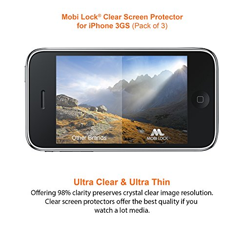 Apple iPhone 3/3GS Clear Screen Protector (Pack of 3) - by Mobi Lock?
