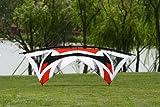 Hengda Kite Quad Line 7.9 Feet/2.4 Meter Stunt Kite With Dyneema Line + Quad Handle Package + Gauze Vent
