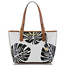 Medium Asher Tote<br>White Monaco