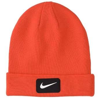 Nike Golf 2014 Mens Swoosh Patch Knit Beanie Hat Gamma Orange