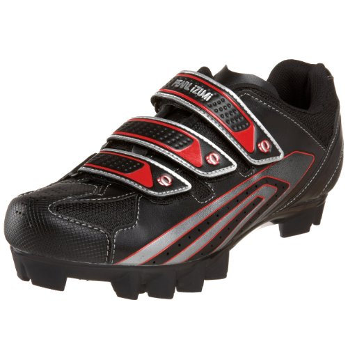 Pearl iZUMi Men's Select MTB Cycling Shoe,Black/True Red,45 D EU / US Men's 11 M