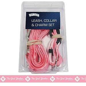 Yankees Dog Collar Pink