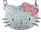 Huge Hello Kitty Crystal CZ Necklace with Pink Bow ships w/FREE gift box by Jersey Bling