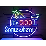 LDGJ® ITS 500 SOMEWHERE Real Glass Neon Light Sign Home Beer Bar Pub Recreation Room Game Lights Windows Garage Wall Signs