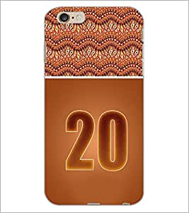 PrintDhaba Numerology Number 20 D-3655 Back Case Cover for APPLE IPHONE 6S PLUS (Multi-Coloured)