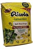 Ricola Big Bag Sugar Free Lemon Mint Cough Drops, 2 Bags 105 Drops each