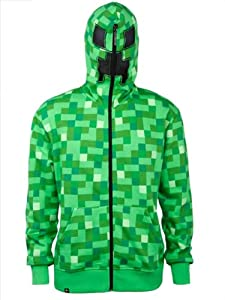 Official Minecraft Creeper Premium Zip up Hoodie Jacket Costume Adult Small