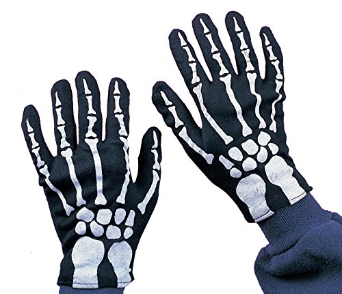 Rubie's Official Child Skeleton Gloves Halloween (One Size)