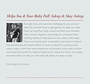Lullaby CD - Modern Instrumental Guitar Lullabies - HELPS YOU and YOUR BABY FALL ASLEEP - Includes soothing ocean waves -