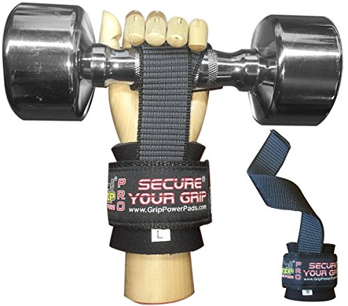 Best-Heavy-Duty-Lifting-Straps-Neoprene-Padded-1-Pair-Wrist-Wraps-Rubbery-Grip-Support
