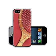buy Msd Apple Iphone 5 Iphone 5S Aluminum Plate Bumper Snap Case Detail Of Vintage Tennis Racket With Space For Your Logo Or Text Image 24917473