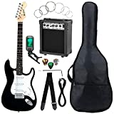 McGrey Rockit ST Komplettset E-Gitarre Schwarz