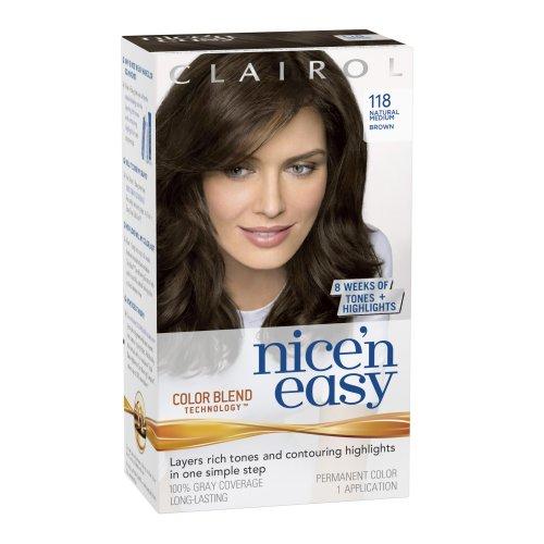 ... Nice 'n Easy Hair Color 118 Natural Medium Brown 1 Kit (Pack of 3