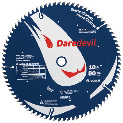 Bosch DCB1080 Daredevil10-Inch 80-Tooth Extra-Fine Finish for Melamine and Finished Plywood Circular Saw Blade