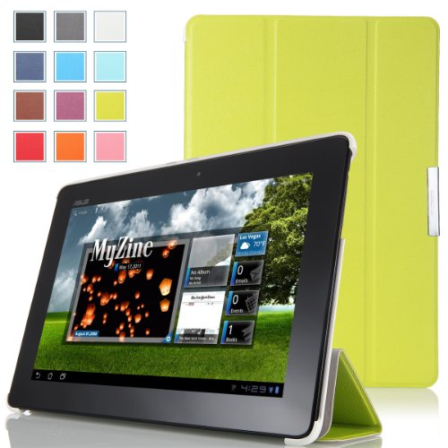 MoKo Ultra Slim Lightweight Smart-shell Stand Case for ASUS MeMo Pad Smart ME301 / ME301T 10.1 inch Android 4.1 Jelly Bean tablet, GREEN