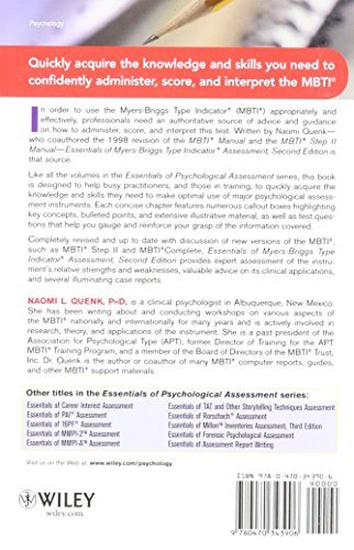 Essentials of Myers-Briggs Type Indicator Assessment (Essentials of Psychological Assessment)