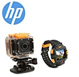 Action Cam 1080P full HD WiFi Action Camera Kit HP ac300w with Ambarella A7 Chip (Same as GoPro Hero 3+) Panasonic 16 Megapixel CMOS Sensor, Underwater Waterproof Sports Digital Camera Camcorder - Top of the Range with 165° Ultra Wide Angel Lens with FRE