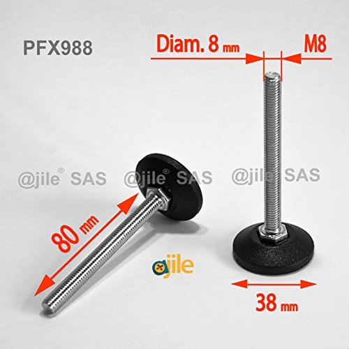 ajile-1-pieza-pie-nivelador-ajustable-con-base-redonda-rosca-diametro-8-mm-m8-largo-80-mm-acero-galv