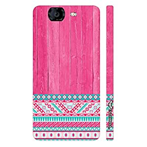 Micromax Canvas Knight A 350 Woody Aztec Thirteen designer mobile hard shell case by Enthopia