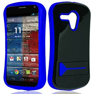 CY Infuse Hybrid Cover Case With Kick Stand For Motorola Moto G (CDMA) (Include a Free CYstore Stylus Pen) - Blue