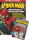 SPIDER-MAN Addition & Subtraction Workbook & Flash Cards Set