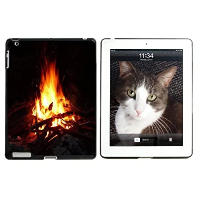 Campfire - Camp Camping Fire Pit Logs Flames - Snap On Hard Protective Case For Apple Ipad 2 3 4 - Black from Graphics and More